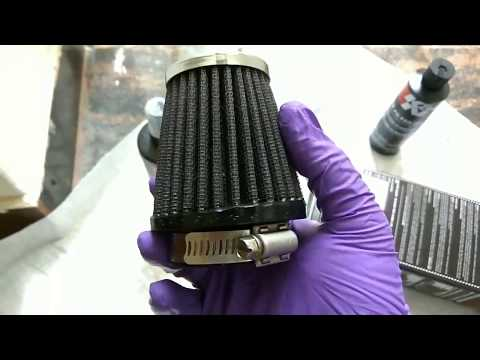 CLEANING,RE OIL K&N RC1060 PERFORMANCE AIR FILTER USING K&N AIR FILTER RECHARGER ALONG WITH SOUND