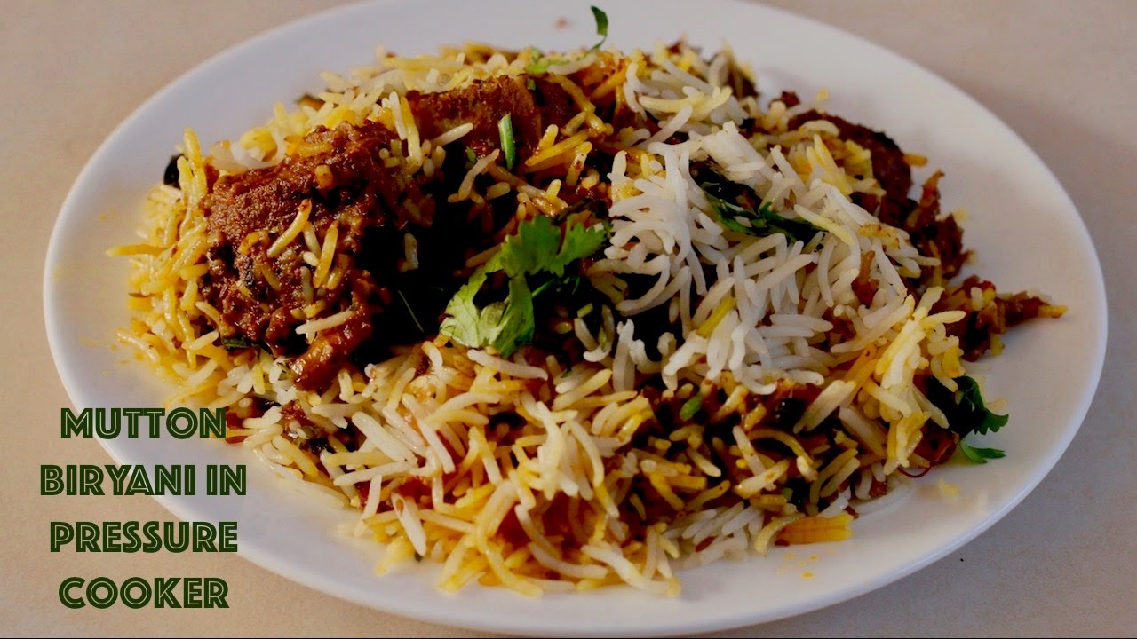 Easy Pressure Cooker Biryani Recipe प र सर क कर Mutton