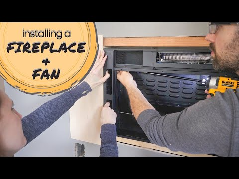 installing-an-electric-fireplace-and-ceiling-fan- -master-bedroom-makeover
