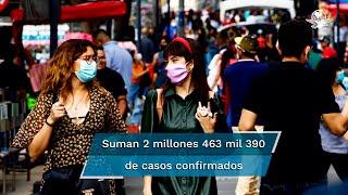 La Secretaría de Salud informó además, que desde el inicio de la estrategia nacional de vacunación se han aplicado en total 38 millones 248 mil 562 dosis de la vacuna contra Covid-19