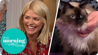 Holly Gets a Lesson in How to Groom Her Cat | This Morning