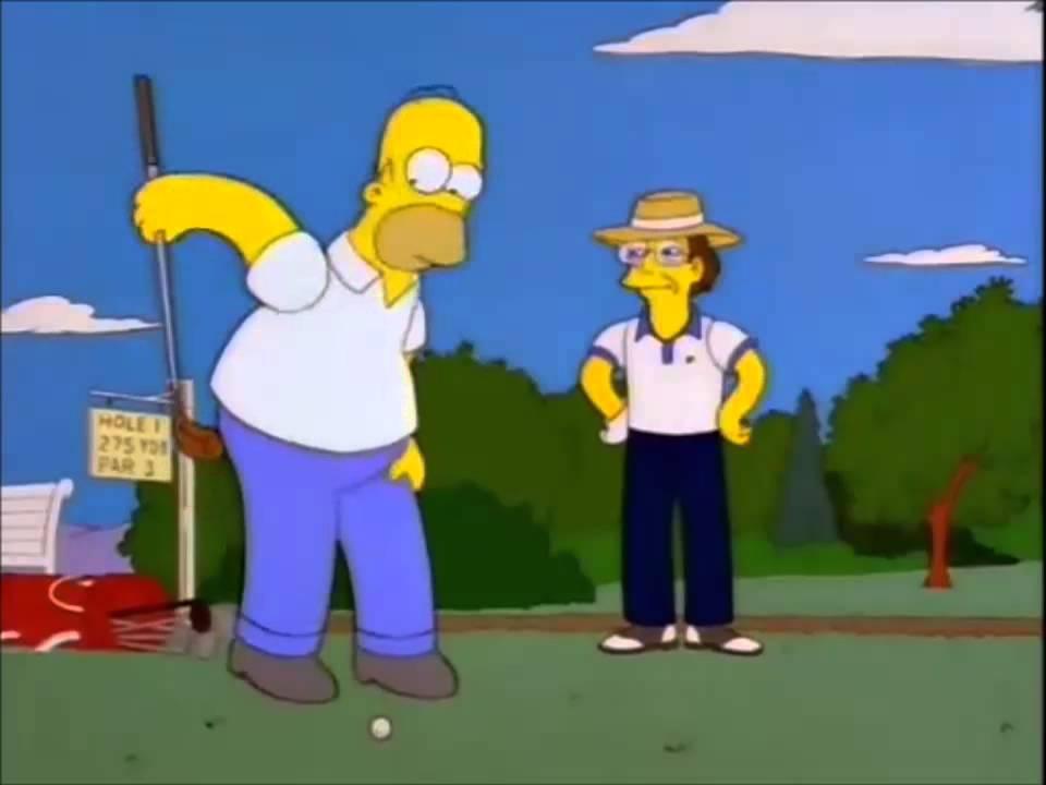 Homero golf youtube - Homer simpson nu ...