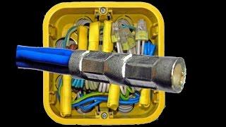 Соединение проводов опресовкой полная версия часть 2(http://remontnikplys.jimdo.com Показано расключение в одной распределительной коробке силовой и осветительной линии..., 2014-02-20T04:59:33.000Z)