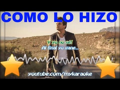 Como lo hizo - Silvestre Dangond - Como lo hizo (Karaoke)