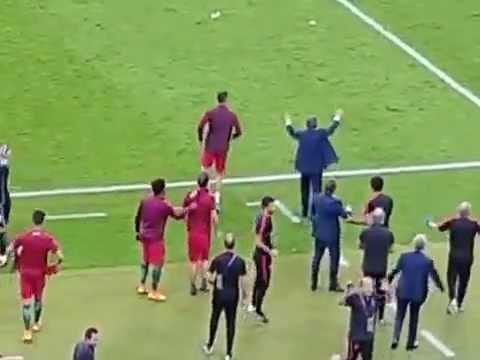 Криштиану Роналду за минуту до финального свистка