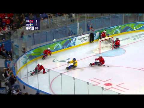 Norway v Sweden (part 1) - Ice sledge hockey - Vancouver 2010 Winter Paralympics