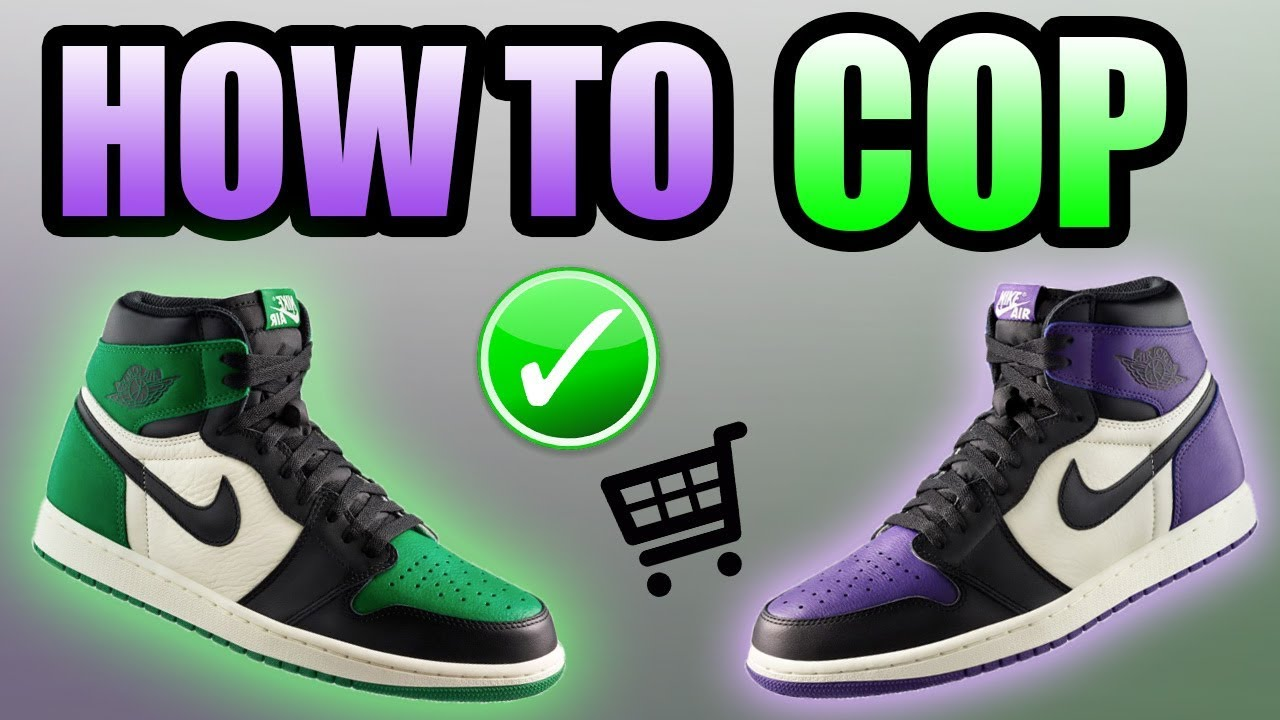 ee1a60fa4cb432 How To Get The PINE GREEN   COURT PURPLE Jordan 1s
