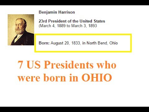 7 US Presidents who were born in OHIO.. Best American Presidential History Videos!