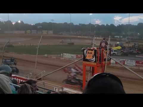 World of Outlaws B Main Part 1/2  Lawrenceburg Speedway