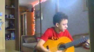 """Мелодия """"Кузнечик"""" на гитаре"""