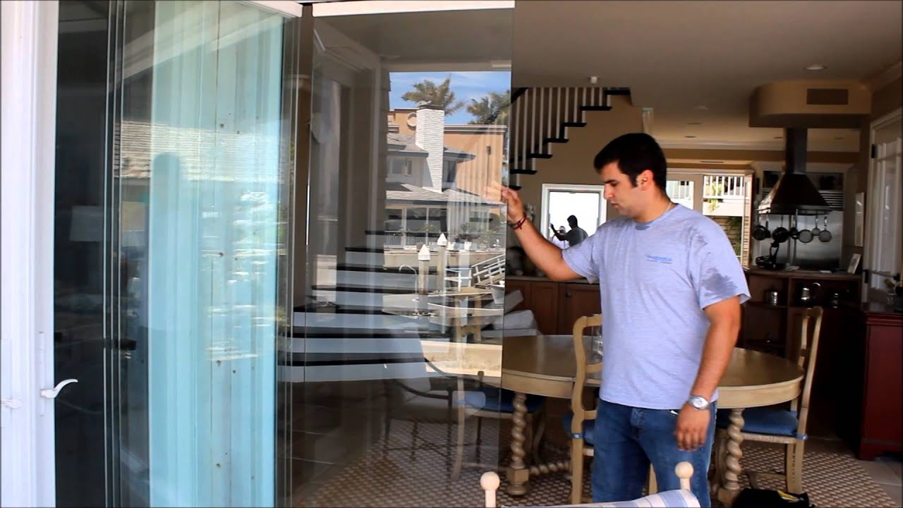 Premier Frameless Folding Doors Balboa Island CA - YouTube