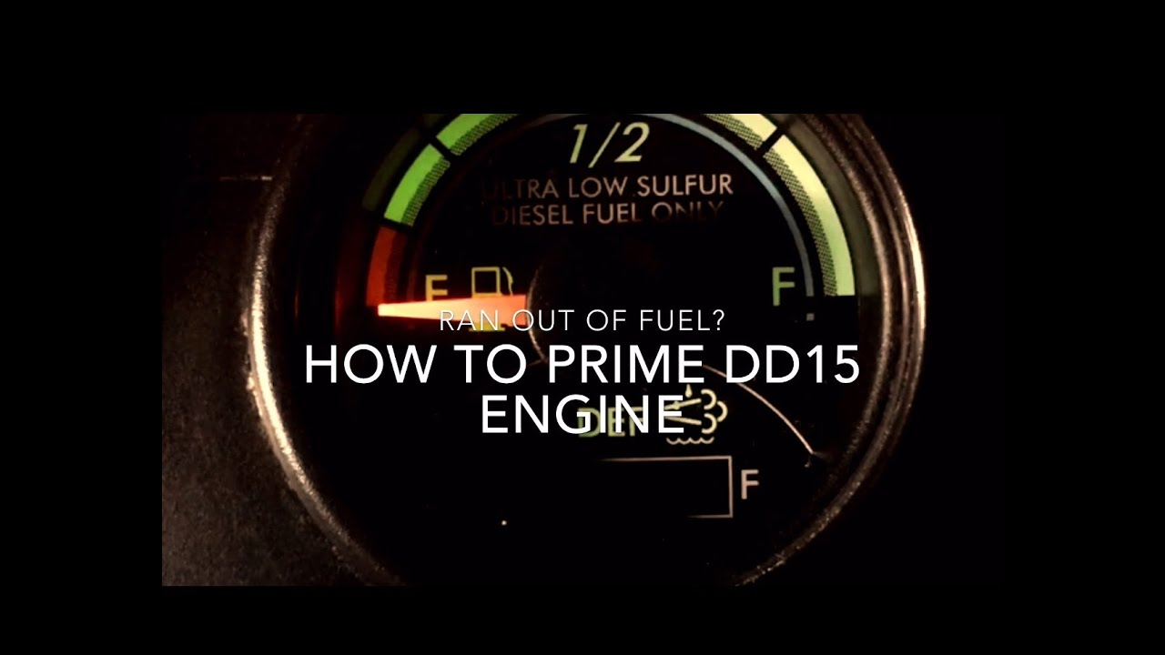 How to Prime DD15 engine after running out of Fuel