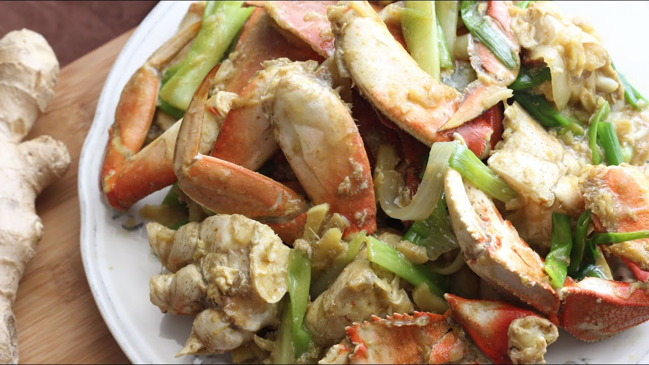 Stir-fry Crab with Ginger and Scallions (Cua Xao Gung H...   Doovi