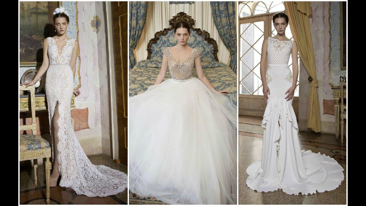 Modernos vestidos de novia con encajes ♥ - YouTube
