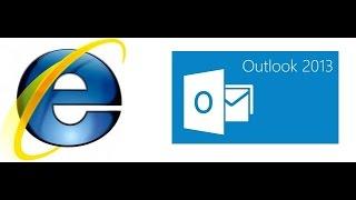 امتحان أساسيات الأنترنت باستخدام Internet Explorer و  Outlook 2013 الإصدار ICDL V6