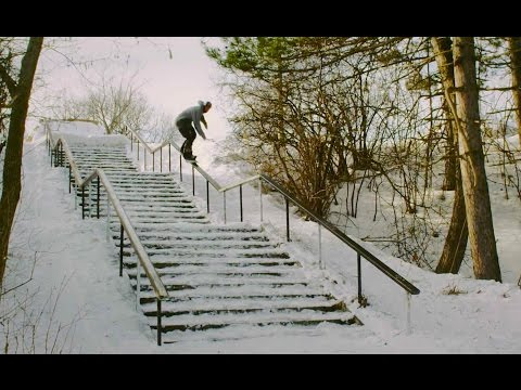 "Veja o video – Wojtek ""Gniazdo"" Pawlusiak's Street Snowboarding Part – Perceptions"