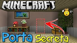 ⭐️Como fazer Porta Secreta Minecraft PE/PC/PS4/Xbox