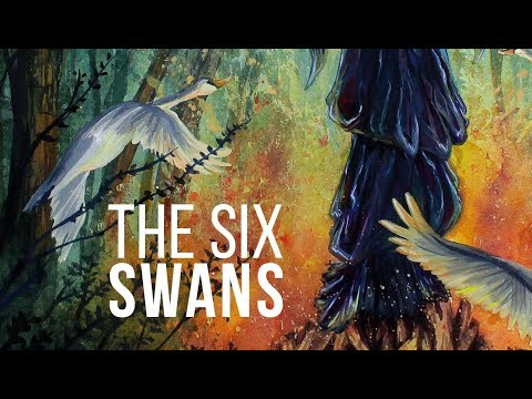 THE SIX SWANS | GOUACHE & WATERCOLOR SPEED PAINT | YTAC GRIMMS FAIRYTALES