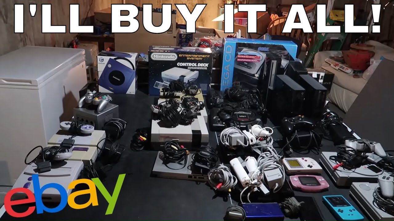He Sold Me ALL of His Video Games and Toys to Sell on Ebay and Amazon FBA!