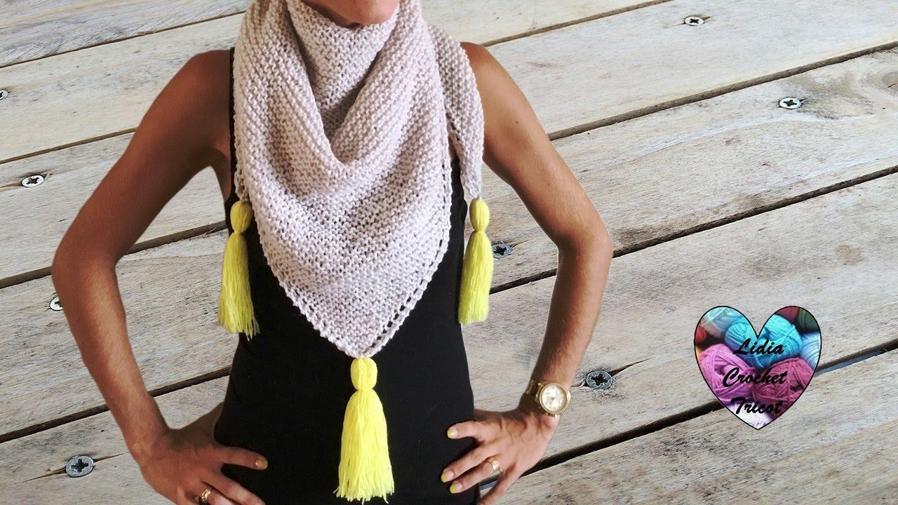 Châle très tendance tricot facile / Chal tejido en dos ...