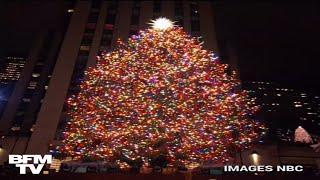 L'immense sapin de Noël du Rockefeller Center à New York s'est illuminé thumbnail