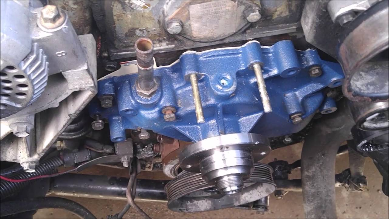 1993 73 IDI F 350 Water Pump Install  YouTube