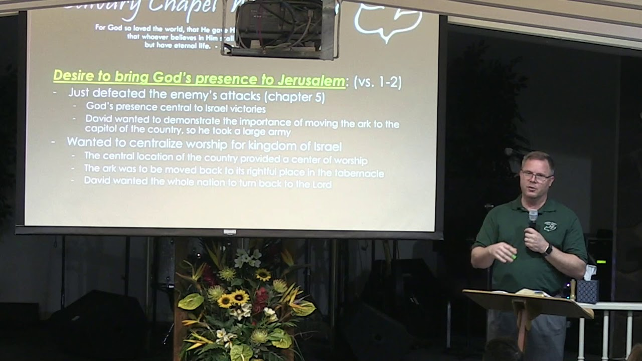 14 November 2018 | CCWO's Midweek study in 2 Samuel 6 | Pastor Dan Jacobson