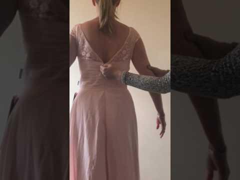 JJS HOUSE Dress Review Pearl Pink Bridesmaid Dresses