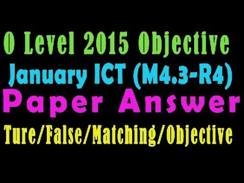 O Level Doeacc/Nielit 2015 January Solve Question ICT (M4 3 R4) Paper In  English (Objection Type)