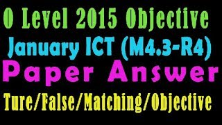 O Level Doeacc/Nielit  2015 January Solve Question  ICT (M4.3.R4) Paper In English (Objection Type)
