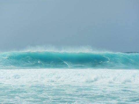 HD Last Giant Waves at  Banzai Pipeline. North Shore,  Oahu, Hawaii, April 2013.