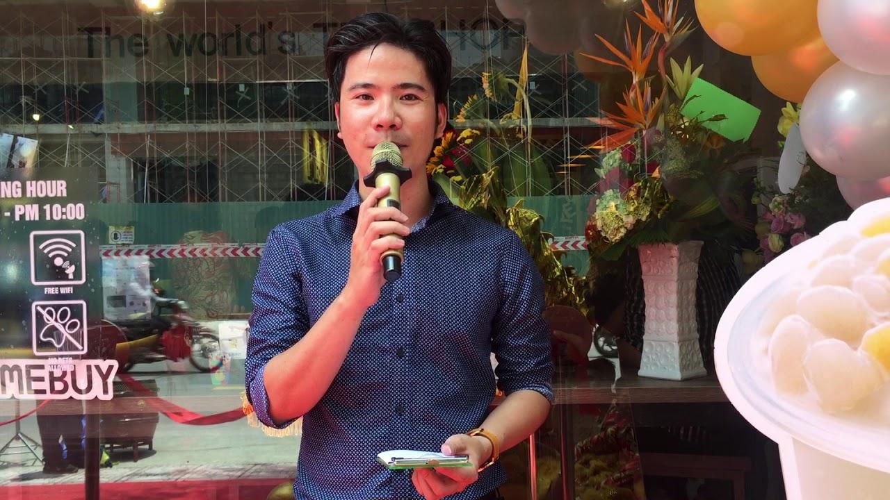"""MC Hoài  Nam - Sự kiện khai trương """"Thương Hiệu Trà Sữa Đẳng Cấp """""""