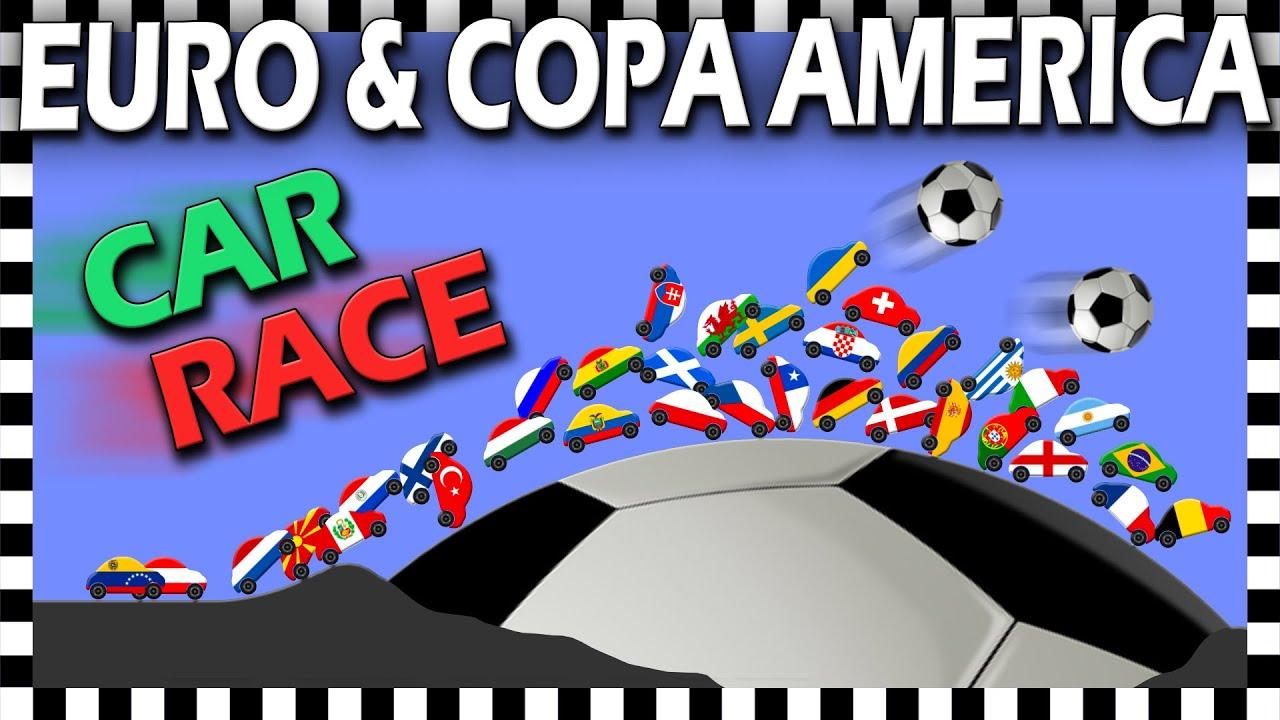 CAR RACE EURO 2020 VS COPA AMERICA 2021