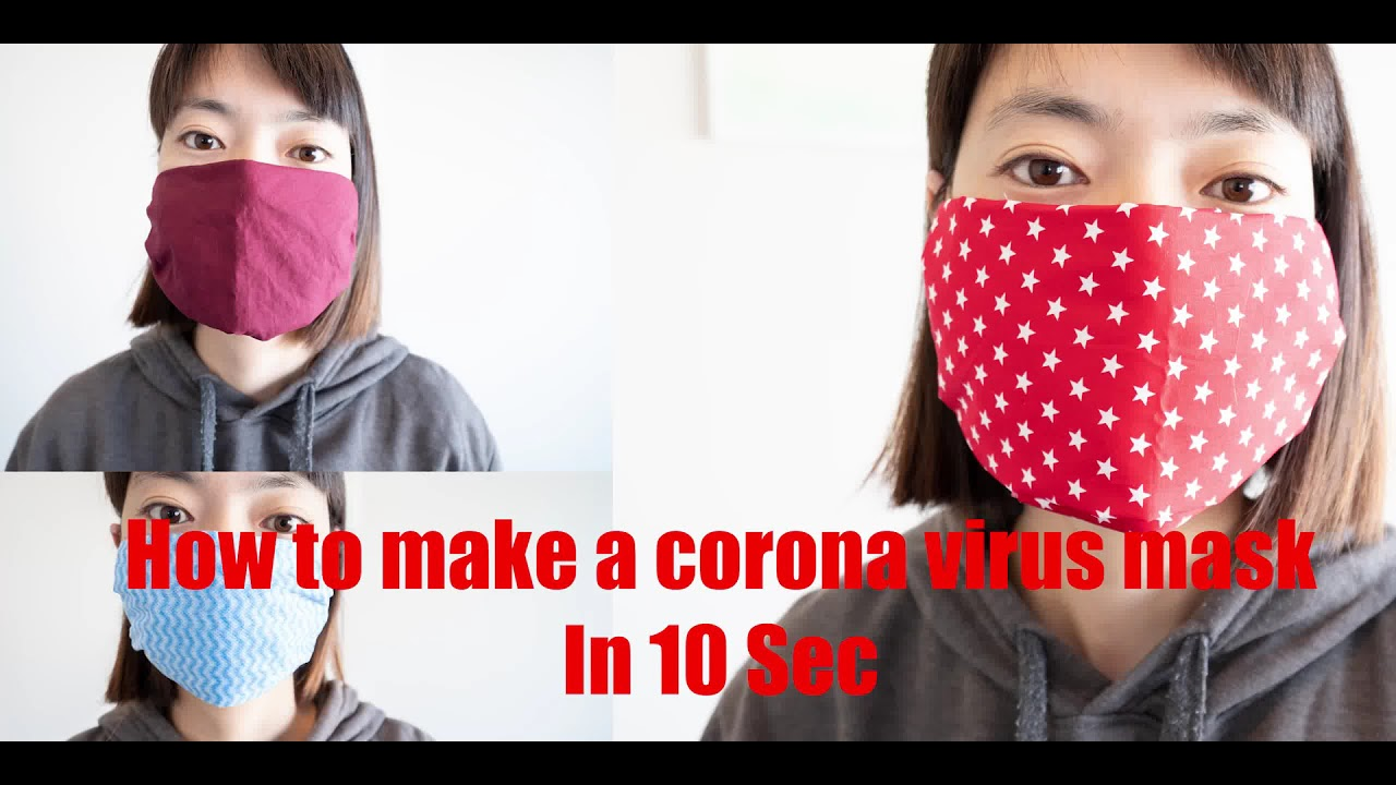 DIY How to make a reusable Corona virus surgical face mask in 10 sec - Washable / Reusable!