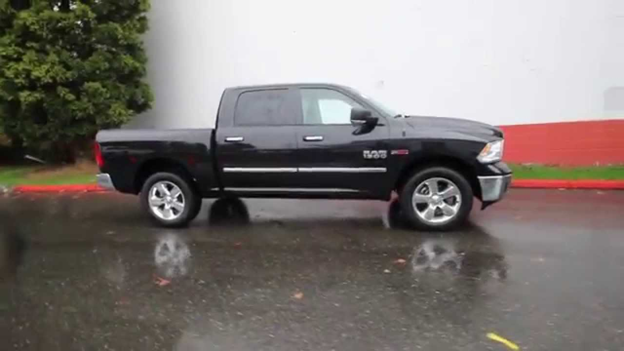 2016 dodge ram 1500 big horn brilliant black crystal gs129295 redmond seattle youtube. Black Bedroom Furniture Sets. Home Design Ideas