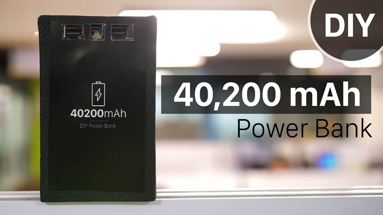 Diy Power Bank Ac How To Build A 40 200mah Power Bank In Under 5 Diy