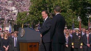 President Obama schools PM David Cameron on 'bracketology'