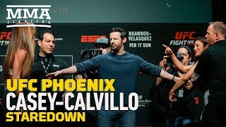 UFC Phoenix Weigh-Ins: Cortney Casey vs. Cynthia Calvillo Staredown - MMA Fighting