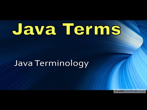 03 - Java Terminology - Learn Java Terms & Definitions