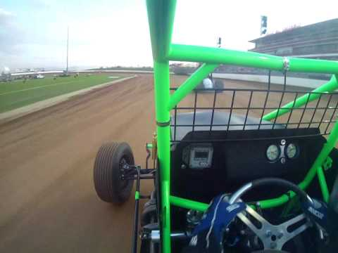 WAR Series Lucas Oil Speedway Tony Rost Wingless Sprint Car Flip In Car Camera