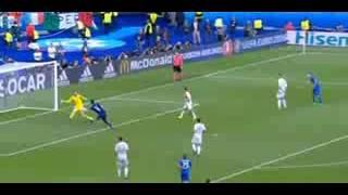Gol de Graziano Pelle - Espanha 0 x Italia 2 - EURO 2016