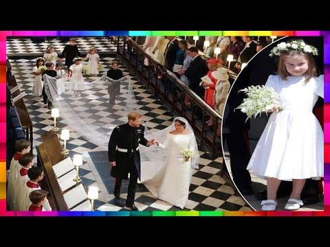 La petite princesse Charlotte a fait la loi au mariage de Meghan et Harry