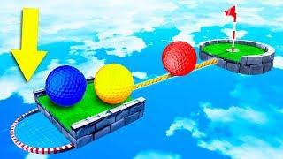НЕОЖИДАННЫЙ ФИНИШ! САМЫЕ СТРАННЫЕ ЛУНКИ С ЗАГАДКАМИ! НОВАЯ КАРТА С СЕКРЕТАМИ В ГОЛЬФ ИТ (Golf It)