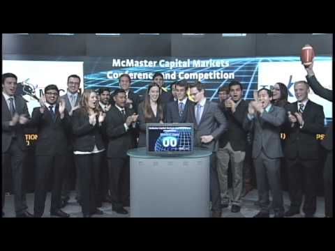 McMaster Capital Markets Conference and Competition opens Toronto Stock Exchange, November 23, 2012