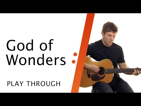 Acoustic Guitar Tutorial // God of Wonders // Paul Baloche