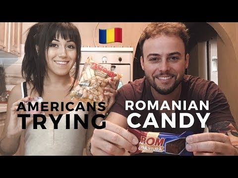 Americans Try Romanian Candy and Snacks 🇷🇴