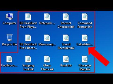 Sửa Nhanh Lỗi icon, Shortcut . lnk Tấc cả ứng dụng mở bằng một phần mềm nào đó