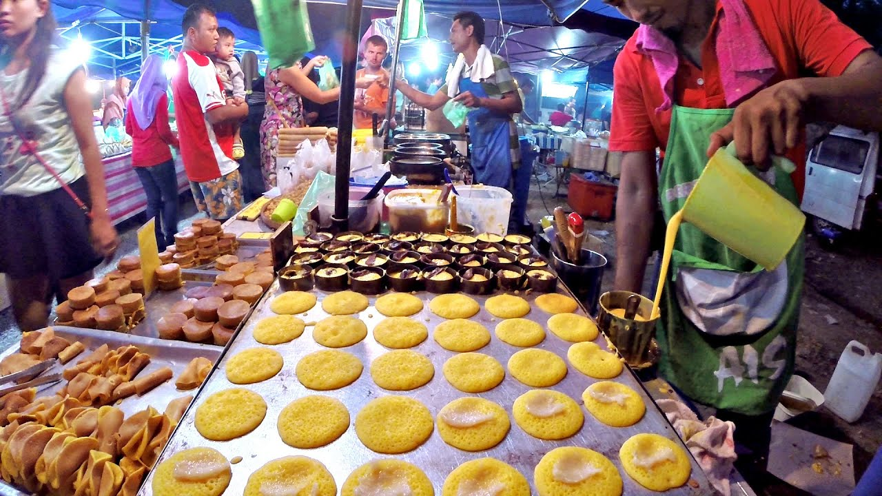 Delicious Street Food at the Night Market Langkawi, Malaysia #GoPro ...