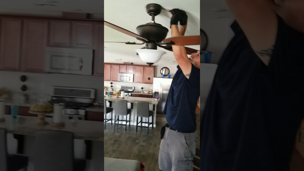 How to remove a hampton bay ceiling fan youtube how to remove a hampton bay ceiling fan aloadofball Image collections