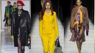 Тенденции Моды Осень -зима 2018/2019 от Кутюр Versace Armani Chanel Dior Dolce&gabbana | девушка мода осень